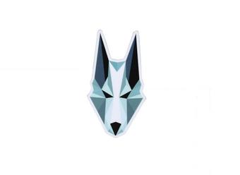"""Magnet """"Tête de loup"""""""